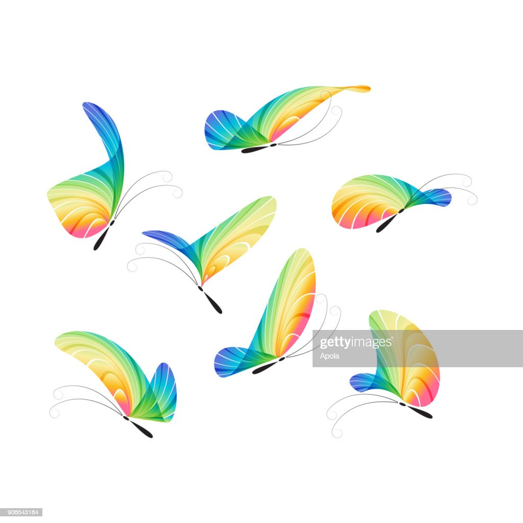 Butterfly vector set