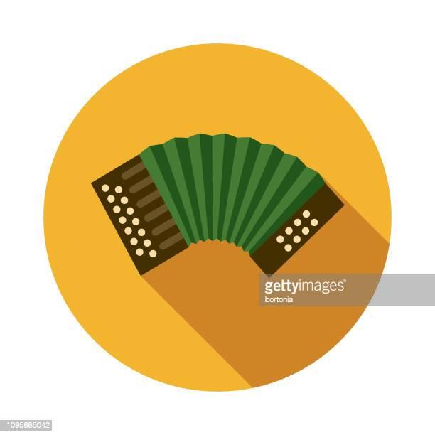 button accordion ireland icon - accordion stock illustrations