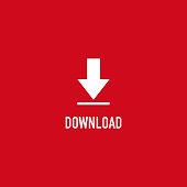 Button Download Icon Vector Template Design Illustration