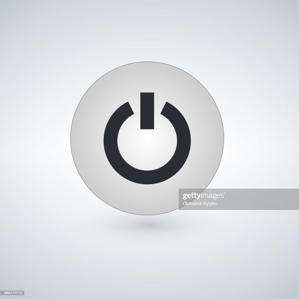 Button Icon Power Start Vector Close Computer Design Energy Internet ...