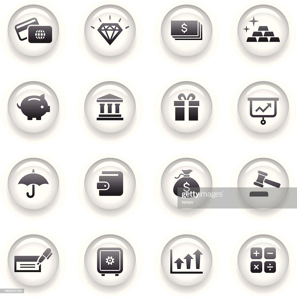 Button Icons Set | Banking & Finance : stock illustration