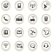 Button Icons Set | Communication