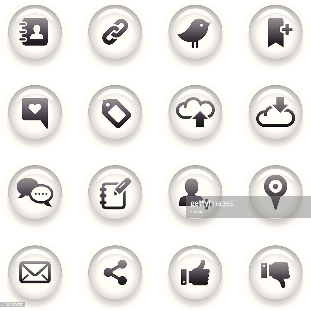 Button Icons Set | Social Media