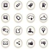 Button Icons Set   Social Media