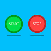 Button start and stop. vector illustration