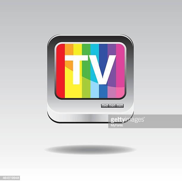 Télévision 3D bouton