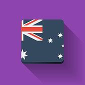 Button with flag of Australia