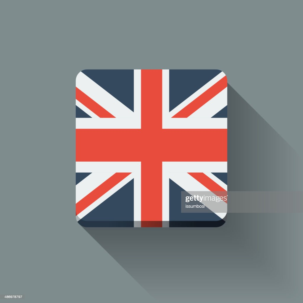 Button with flag of the UK