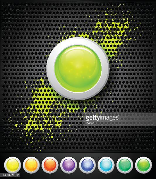 buttons and metall background