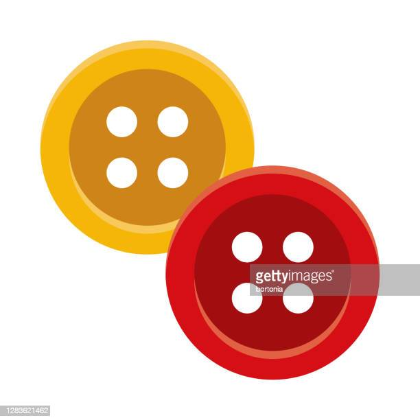 buttons icon on transparent background - button sewing item stock illustrations