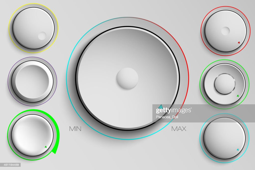 buttons, volume control