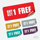Buy 1 Get 1 Free on Square Sticker