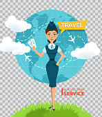 Buy air tickets online. Advertising poster,banner