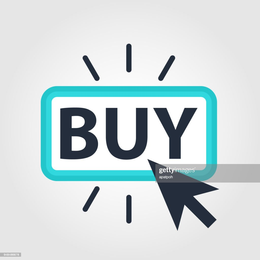 Buy Button Icon Flat Graphic Design. Online store buy button.