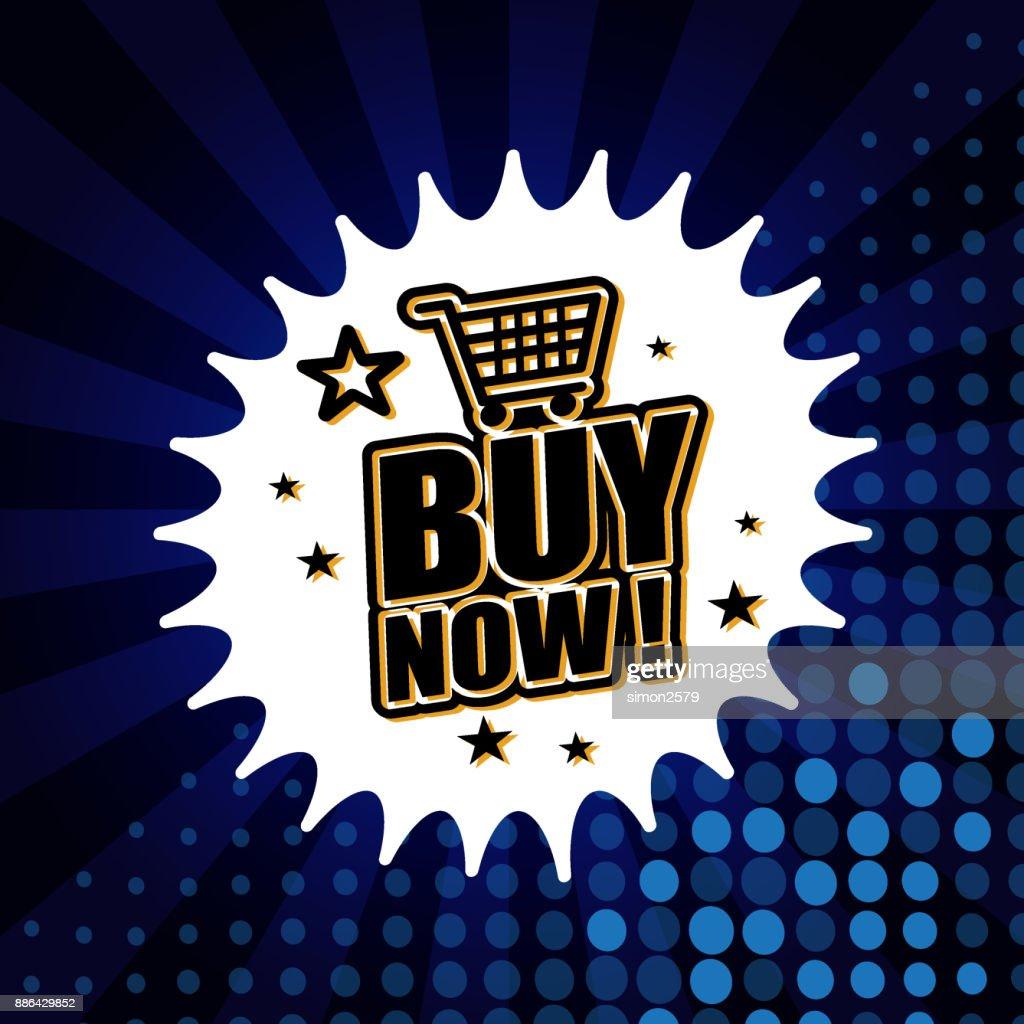 Buy Now Banner : Stock Illustration