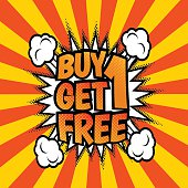 Buy one get 1 free poster
