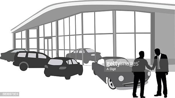 buying a car at the dealership - showroom stock illustrations, clip art, cartoons, & icons