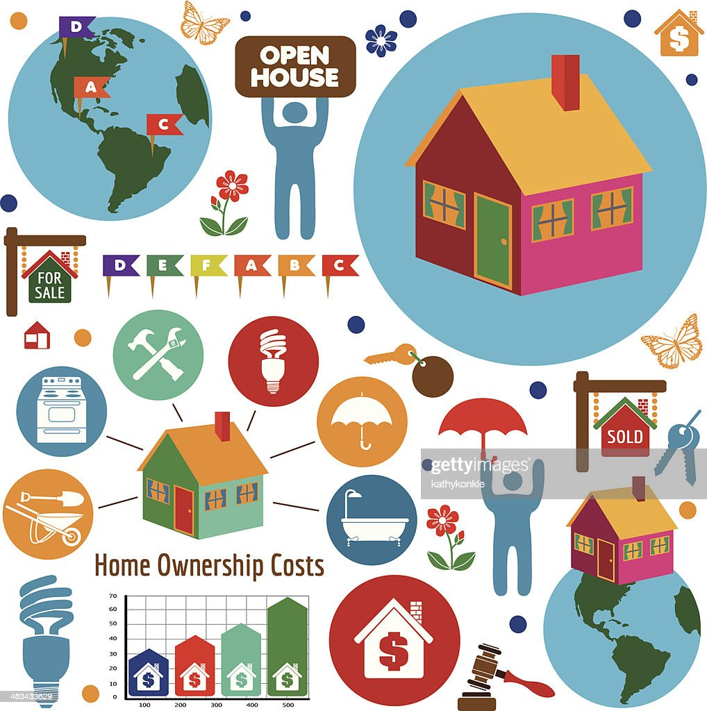 Buying A New Home Design Elements Vector Art   Getty Images