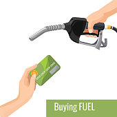 Buying petrol concept emblem, template for gasoline prices