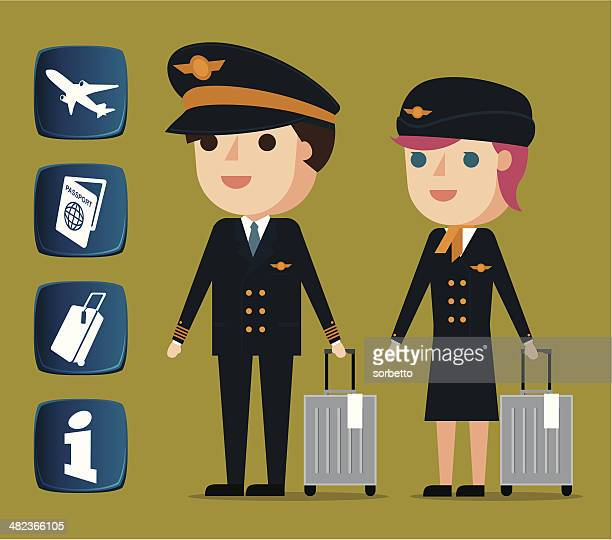 Cabin crew and related icons