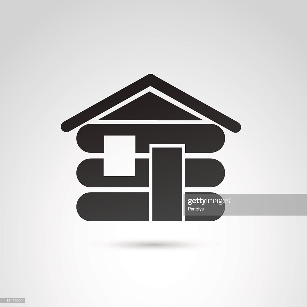 Cabin house icon.