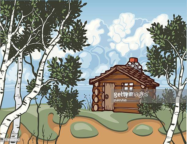 cabin property - prairie stock illustrations, clip art, cartoons, & icons