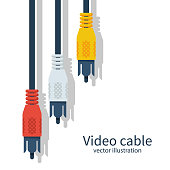 TV cable. Audio-video plugs analog cable