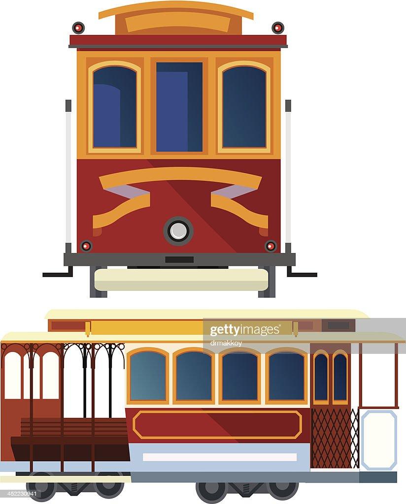 Cable Car In San Francisco Vector Art