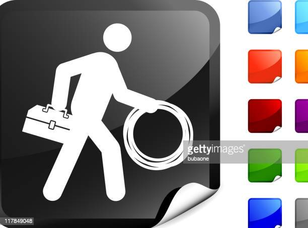 Cable guy internet royalty free vector art