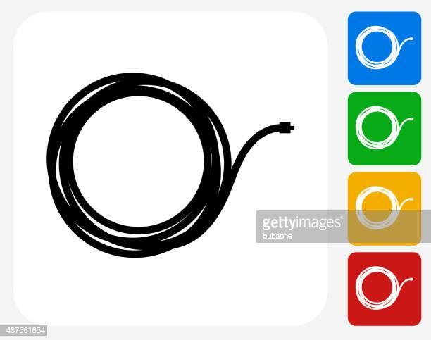 Cable Icon Flat Graphic Design