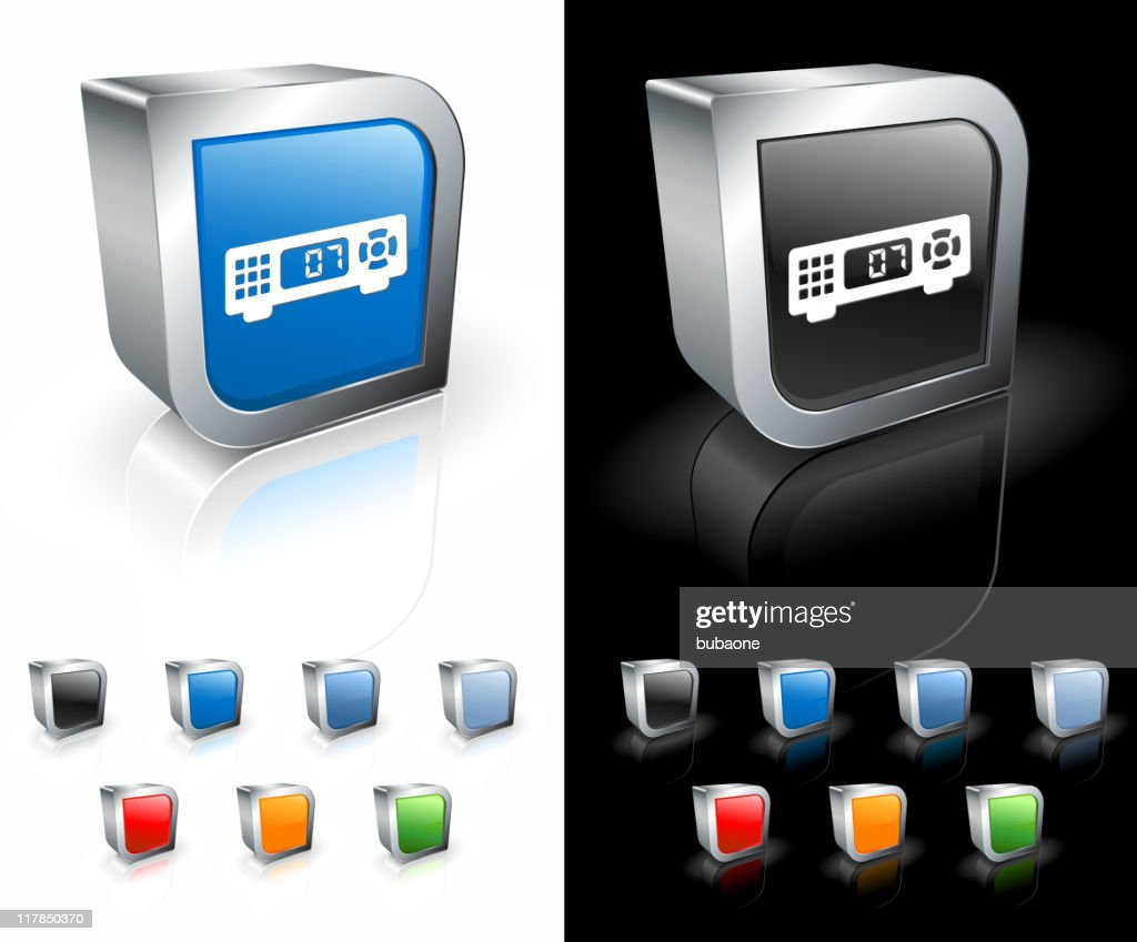 cable TV box 3D royalty free vector art