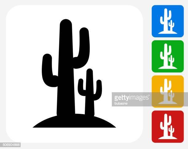 ilustrações, clipart, desenhos animados e ícones de cactus plana ícone de design gráfico - cacto
