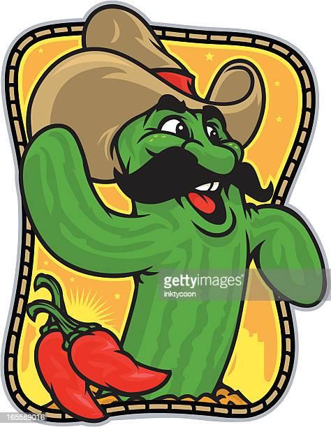cactus jack - bell pepper stock illustrations, clip art, cartoons, & icons