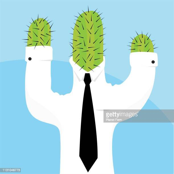 cactus man - masculinity stock illustrations
