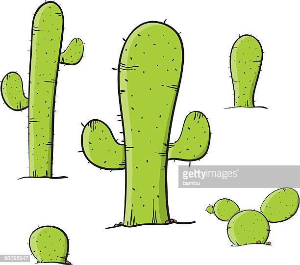 bildbanksillustrationer, clip art samt tecknat material och ikoner med cactus - taggig buske