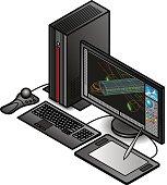 CAD/design/engineering workstation.