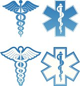 Caduceus and Star of Life