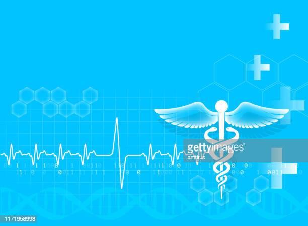 caduceus background - medicine stock illustrations