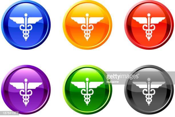 Hermesstab Medizinische lizenzfreie vektor icon-set