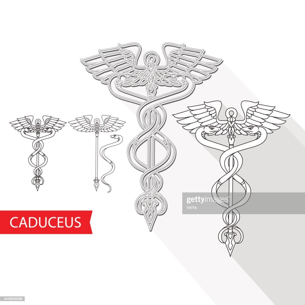 Caduceus Medical Symbol. Vector illustration.