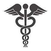 Caduceus Vector Icon