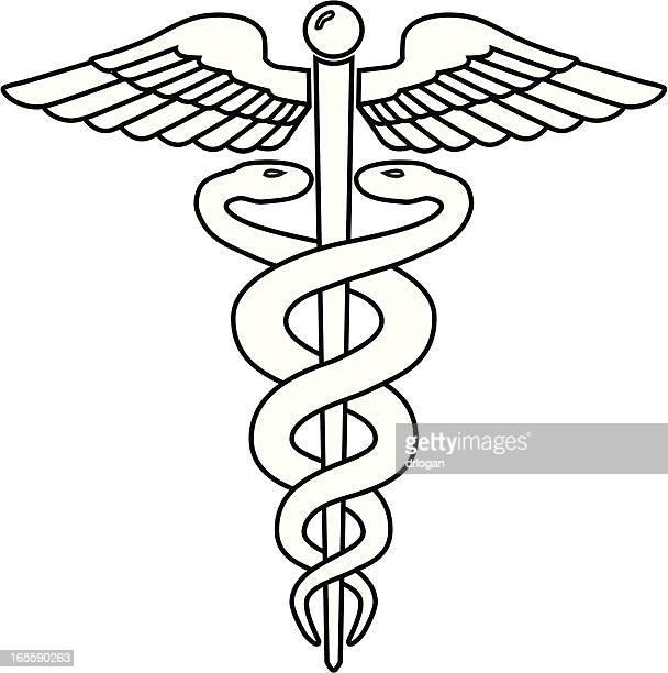 ilustrações, clipart, desenhos animados e ícones de caduceus - símbolo médico