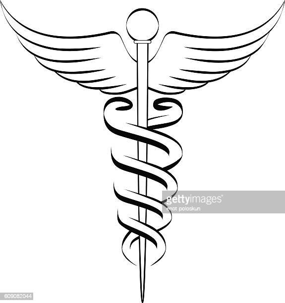 caduceus - medical symbol stock illustrations, clip art, cartoons, & icons
