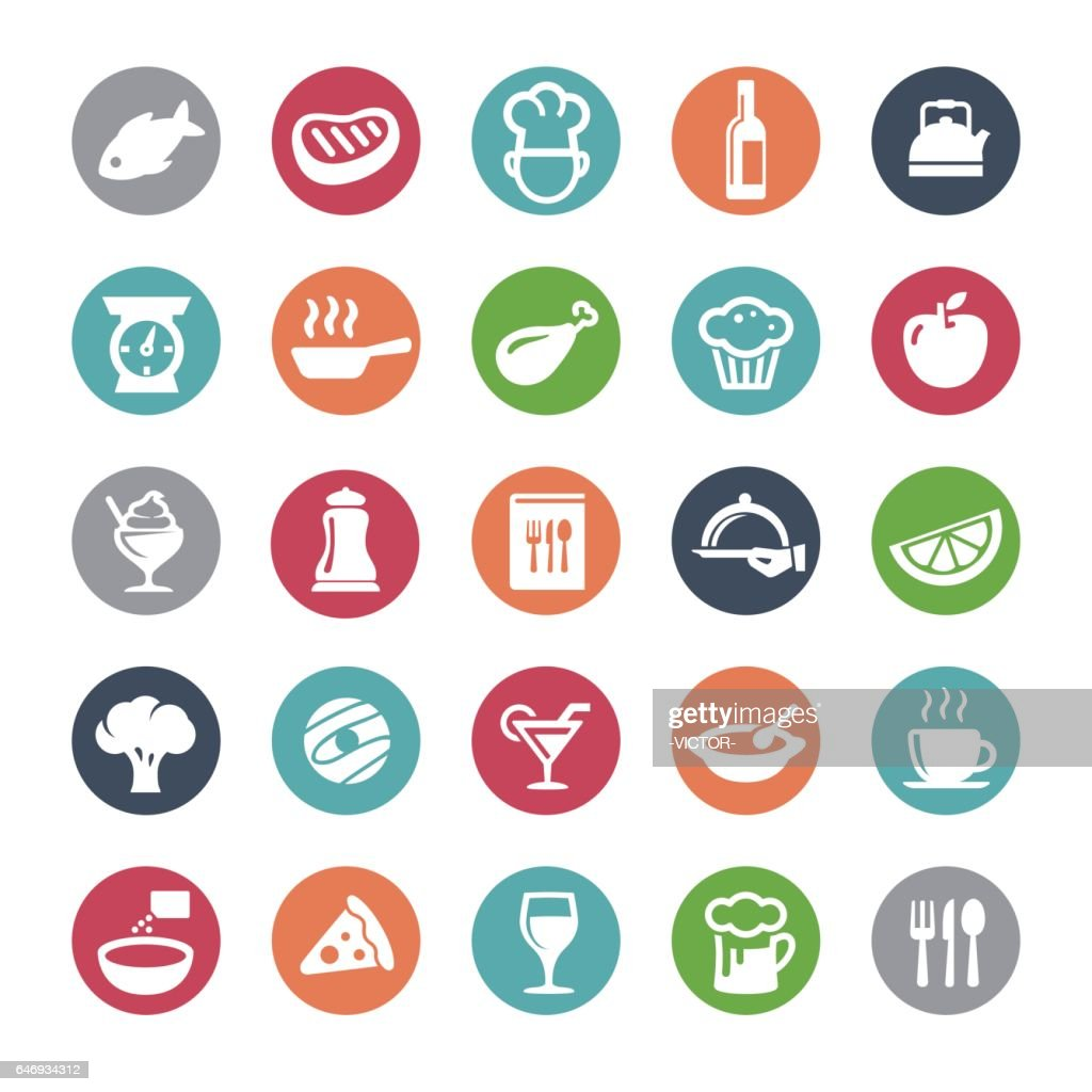 Cafe and Restaurant Icons - Bijou Series : stock illustration