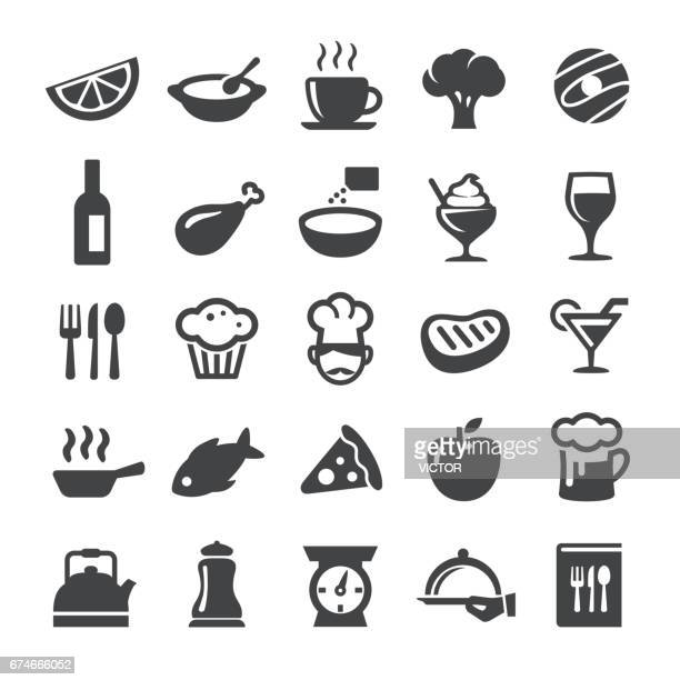 cafe and restaurant icons - smart series - chicken pie stock illustrations, clip art, cartoons, & icons