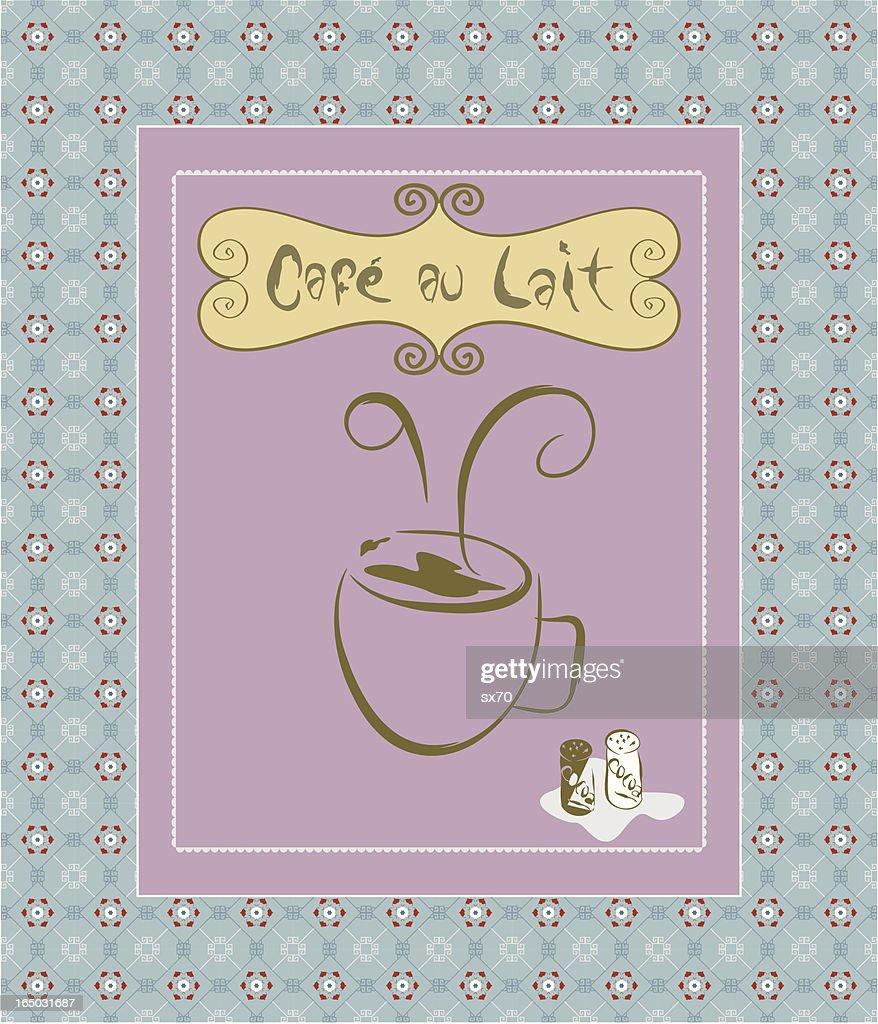 Cafe au Lait / Coffee Ad ( Vector )