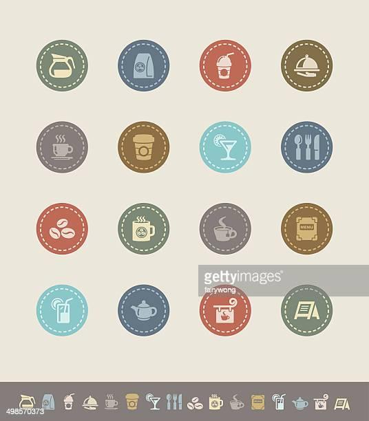 cafe icons - caffeine stock illustrations, clip art, cartoons, & icons