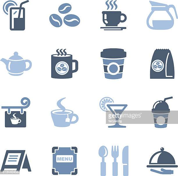 cafe icons - sugar food stock illustrations, clip art, cartoons, & icons