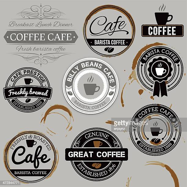 Cafe labels