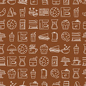 cafe line icon background